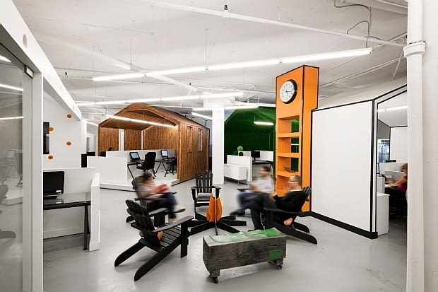 nowoczesne biuro, oryginalne biuro