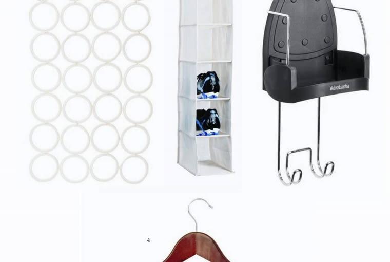 Wybraliśmy dla was: wieszaki <br/> 1. Na krawaty i szaliki IKEA 19,90 zł<br/> 2. Na buty Jysk 12,71 zł<br/> 3. Na żelazko Brabantia 99,90 zł<br/> 4. Na garnitur Black Red White 6,99 zł