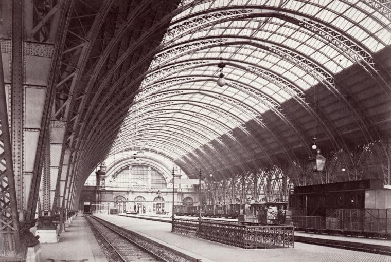 Dworzec Frankfurt Hauptbahnhof w 1888 r.