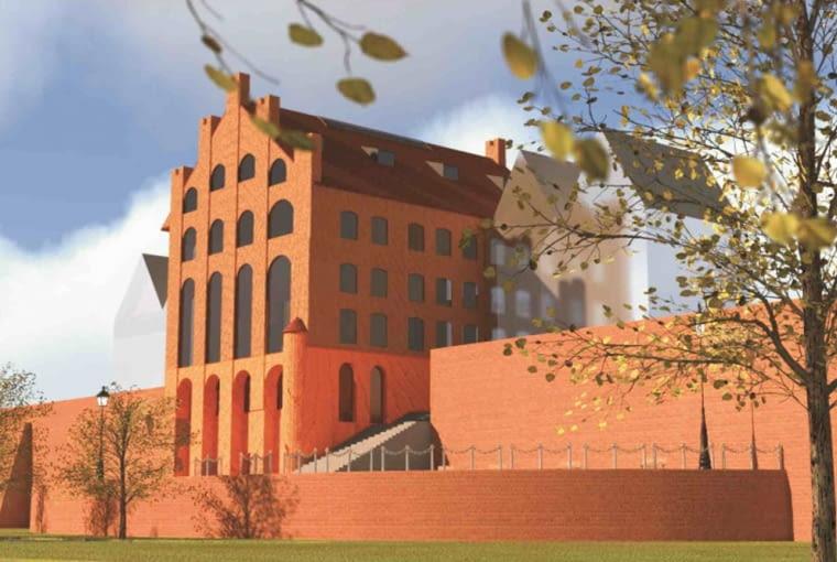 Projekt odbudowy Szkoły Łacińskiej, źródło: Archiwum Urzędu Miasta Malbork
