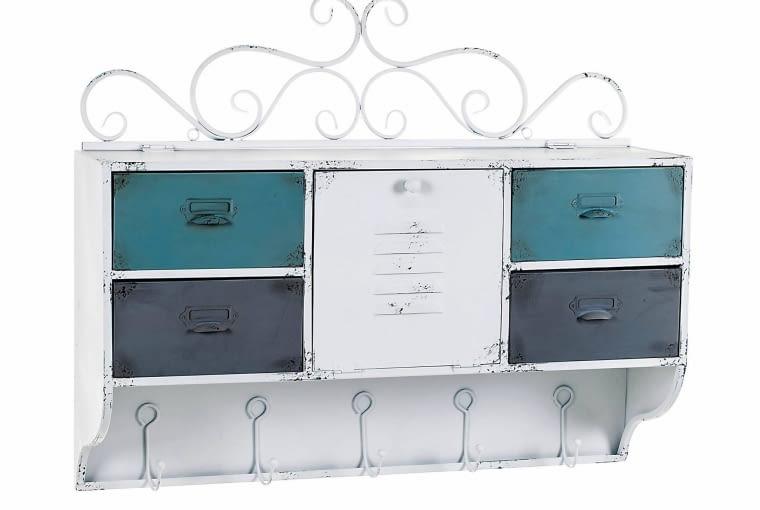 KUCHNIA. Szafka prowansalska Lamali Aluro, metal, 60,5 x 74 cm, gł. 19,5 cm lawendowykredens.pl .490 zł