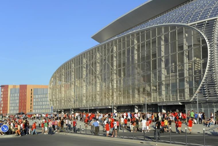 JOuverture du Grand Stade Lille Mtropole.Match de Football LOSC-Nancy 1-1