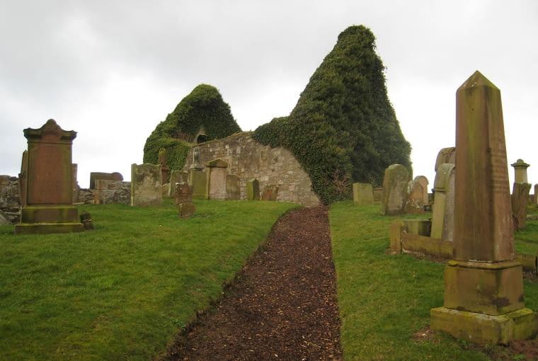 Ruiny kościoła św. Mikołaja, Prestwick, fot. David Edgar, CC BY-SA 3.0
