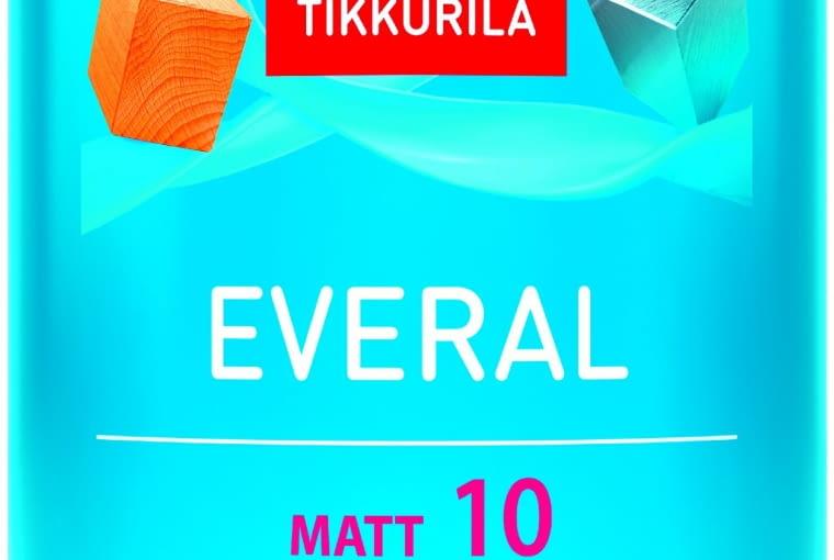 EVERAL MATT 10, różne powierzchnie, alkidowa 45 zł/0,9 l Tikkurila