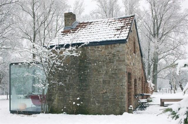 Zmodernizowany dom w Belgii. Autor projektu: Bruno Erpicum