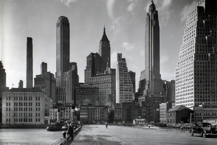 panorama Manhattanu od strony South Street i Jones Lane, 26 marca 1936 r.