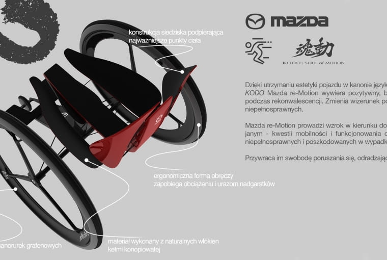 Projekt 'Mazda re-Motion', autorstwa Fryderyka Zyski
