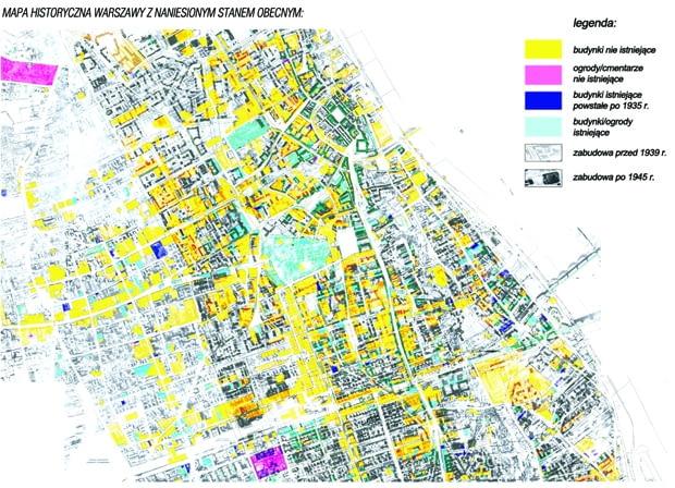 Adaptacja Podziemi Pałacu Saskiego na siedzibę Muzeum Utraconego - mapa