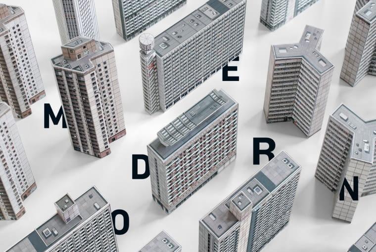 Modern East: Build Your Own Modernist DDR - nowa kolekcja wycinanek od Zupagrafika