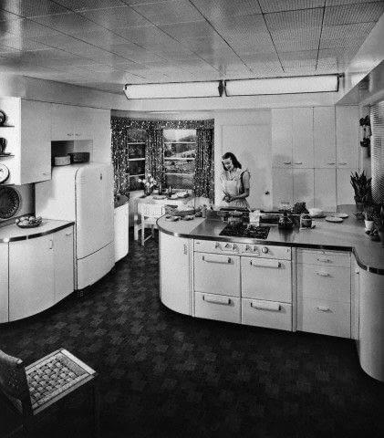 Aranżacja kuchenna z lat 50-tych