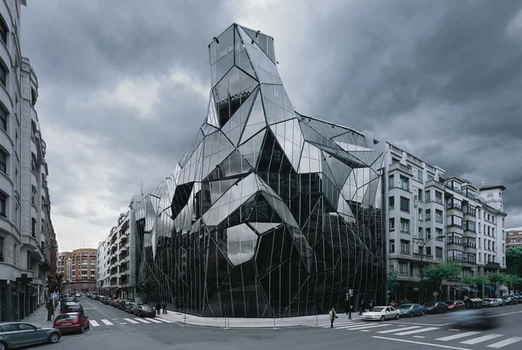 architektura, top 10, hiszpania, frank gehry, bilbao, budynek