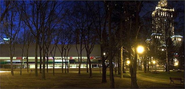 Zwycięska koncepcja - widok od strony Parku Świętokrzyskiego.