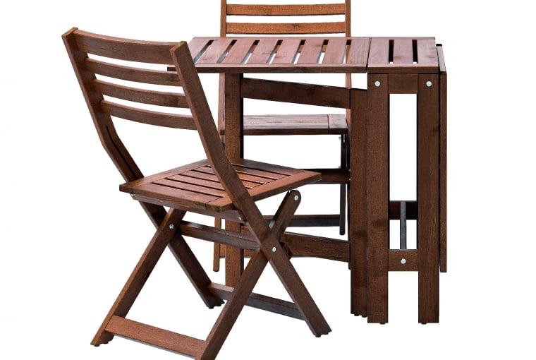 APPLARO, drewno, składany stół (szer. 20-133 cm)