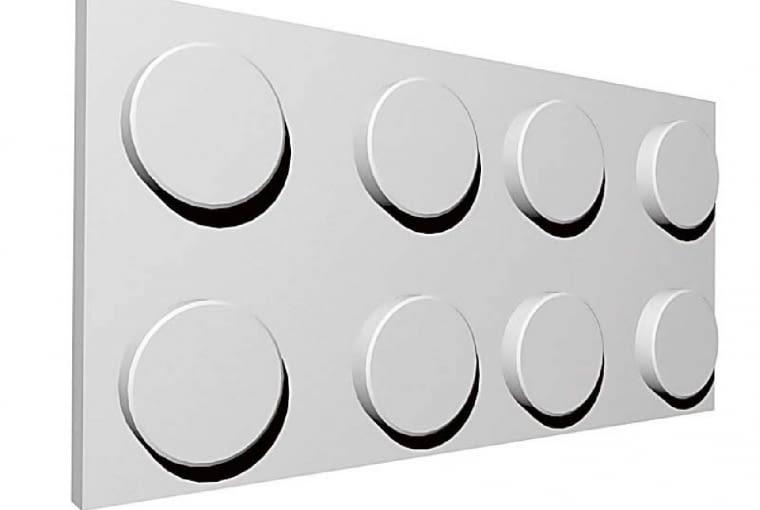Blokk/ZDESIGN. Barwione w masie, dostępne w kształcie prostokąta i kwadratu, 64 x 32 cm oraz 32 x 32 cm. Cena: 42 zł (panel 64 x 32); www.zdesign.pl