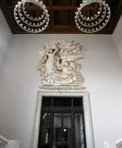 Socrealizm - architektura socrealistyczna - Pałac Kultury i Nauki w środku, wnętrza