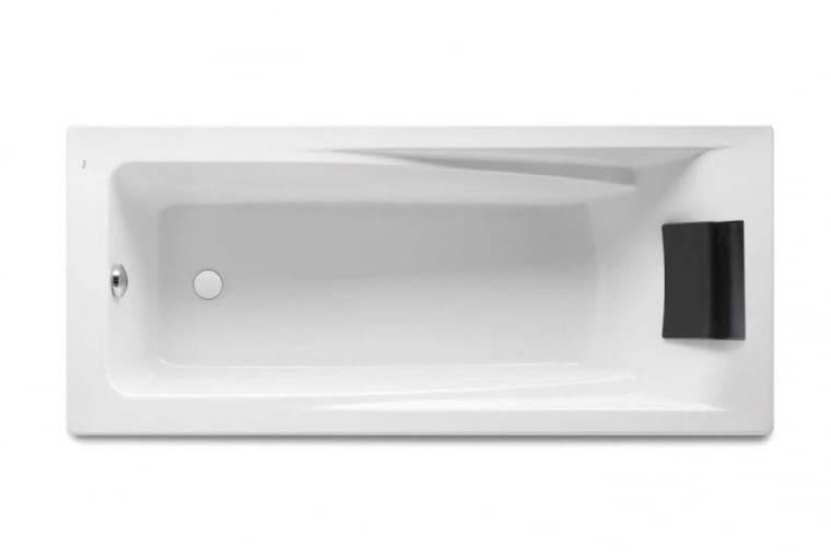 Hall/ROCA. Wanna akrylowa, profilowane oparcie na plecy i zagłówek; regulowane nóżki zapewniają możliwość dopasowania wanny do wymagań; wymiary 170 x 75 cm. Cena (netto): 1500 zł, www.roca.pl