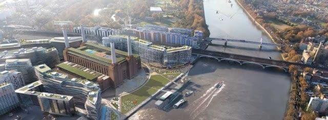 Nowe otoczenie elektrowni Battersea w Londynie