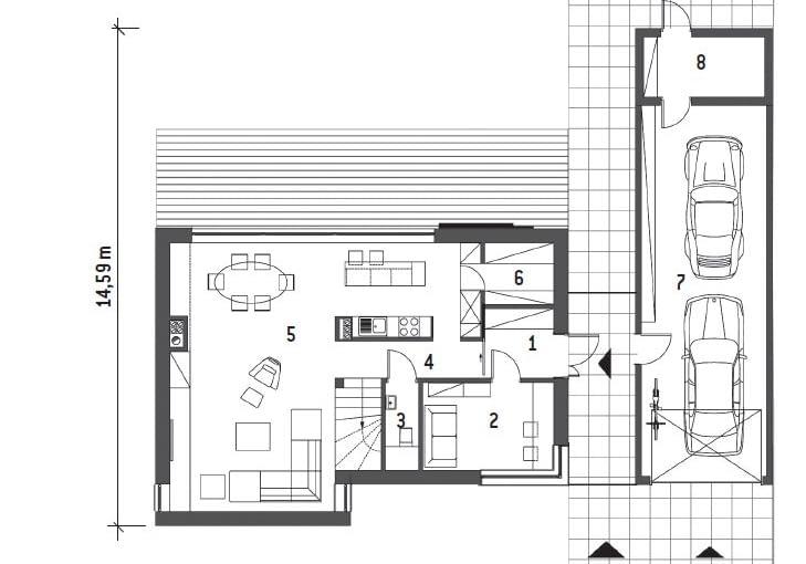 dom jednorodzinny, plany domu, rzuty domu