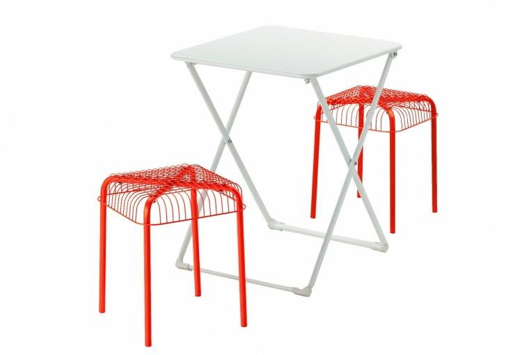 HARO/VASTERON, stal i tworzywo sztuczne, stół (60 x 55 cm) i 2 stołki 159,97 zł/zestaw IKEA