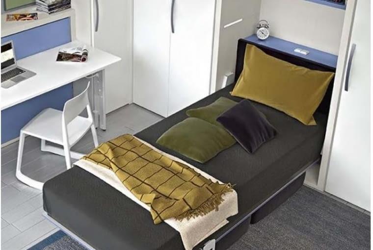 Pojedyncze łóżko w szafie, transforms.pl