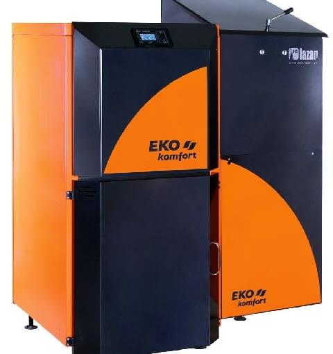 Kocioł z podajnikiem automatycznym - Eko-Komfort HKS Lazar; moc 18 kW; palnik retortowy wymiennik ciepła ze stali; wymiary (wys./szer./głęb.): 1510/1275/935 mm. Cena brutto: 8911 zł.