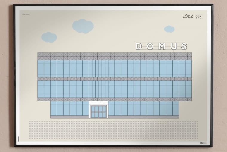 Retro-plakaty z architekturą PRL-u autorstwa studia GRA-FIKA, format: 50x70 cm., cena: 74 zł (www.gra-fika.com)