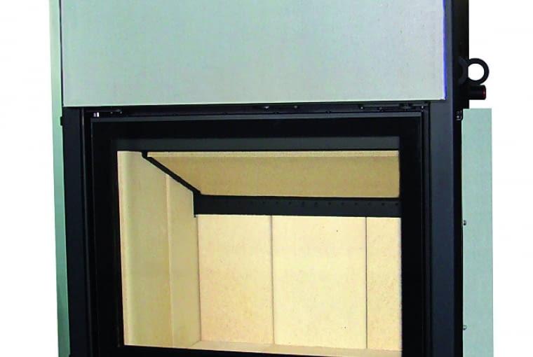 Volcano WTh 18/HAJDUK | Z płaszczem wodnym | moc nominalna 18 kW | materiał: stal i szamot | drzwi bezramowe otwierane do góry, szyba podwójna duplex | sprawność: średnia 82%. Cena (netto): 9502 zł, www.hajduk.eu