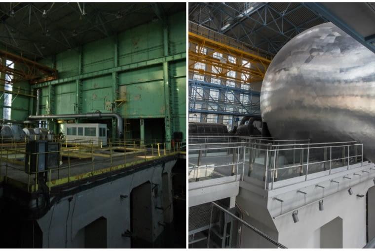 EC1 - zdjęcia wnętrza przed i po rewitalizacji
