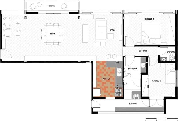 Nowoczesne mieszkanie, mieszkanie dla młodych, mieszkanie dla pary, loft