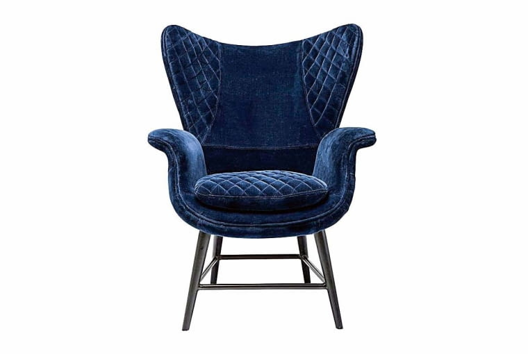 MODNE PIKOWANIA. Fotel Tudor, drewno i tkanina, 3989 zł, 9design