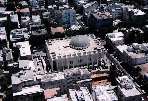 Wielka Synagoga, proj. Yehuda Magidovitch, 1922-26, przebudowa po 1969