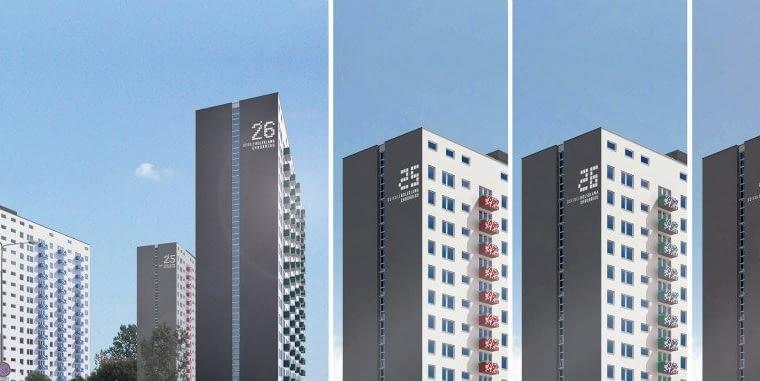 Zupagrafika została zaproszona przez biuro Ultra Architects do współpracy przy termomodernizacji osiedla Orła Białego w Poznaniu. Studio graficzne odpowiada za oznaczenia na wieżowcach.