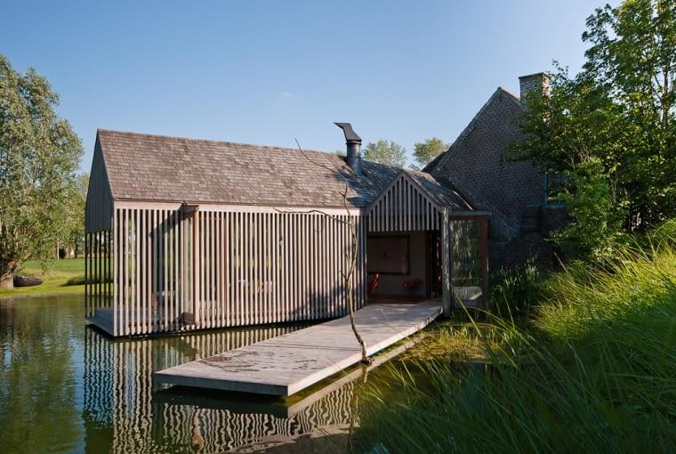 dom, drewno, architektura świat, Belgia, krajobraz flamandzki, dobudowa, ażur, konstrukcja, rzeźba