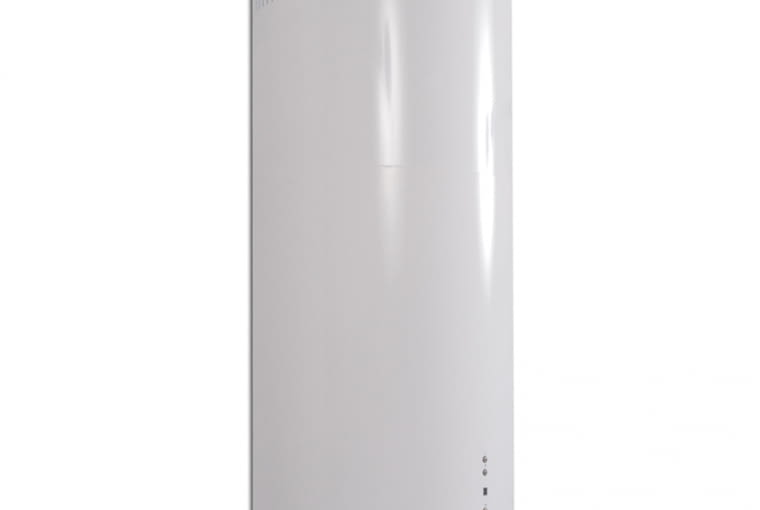 W stylu tego wnętrza: Okap wyspowy GLOBALO Cylindro Isola 39.2 White Eko Max, cena: 2990 zł