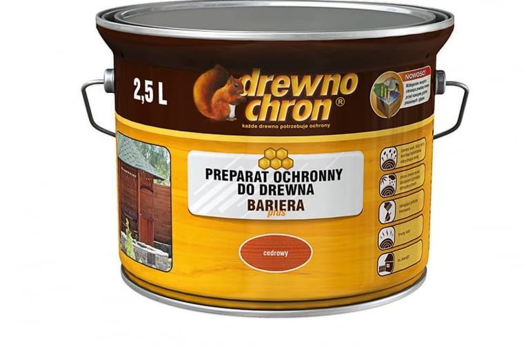 BARIERA PLUS - preparat ochronny z woskiem, ok. 40 zł/2,5 l, Drewnochron