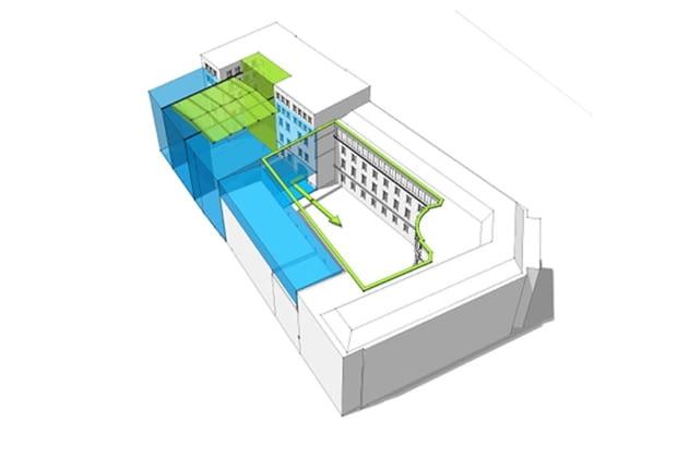 Schemat rozbudowy Uniwersytetu Artystycznego w Poznaniu