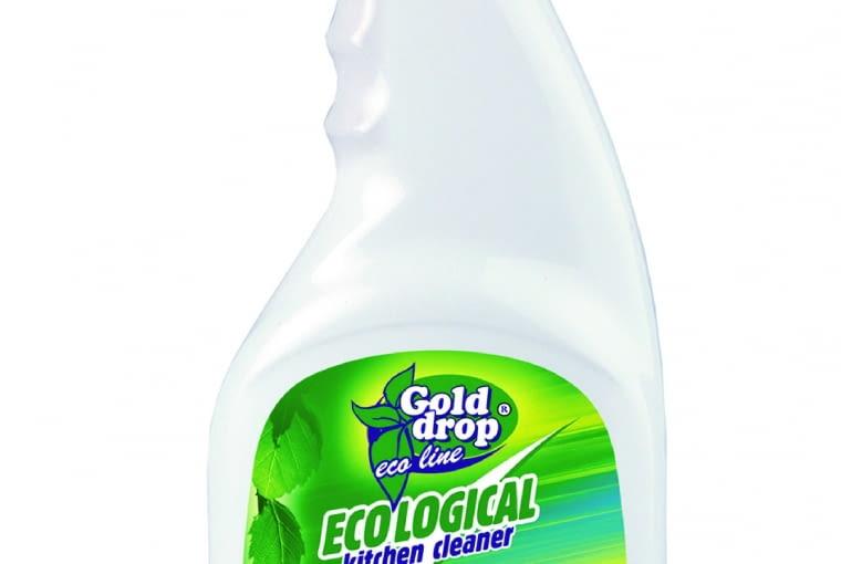 ECO LINE/Gold Drop Ekologiczny płyn do czyszczenia kuchni, doskonale usuwa zabrudzenia, lepki brud oraz tłuszcz. Cena: 8,50 zł (750 ml), www.golddrop.pl
