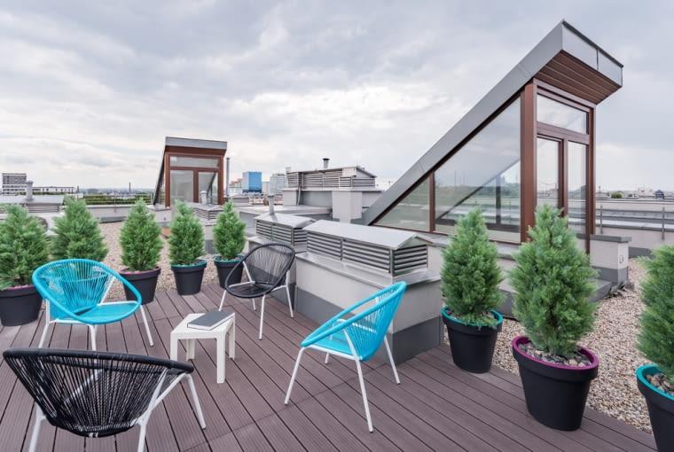 Wykorzystaj płaski dach, jako taras