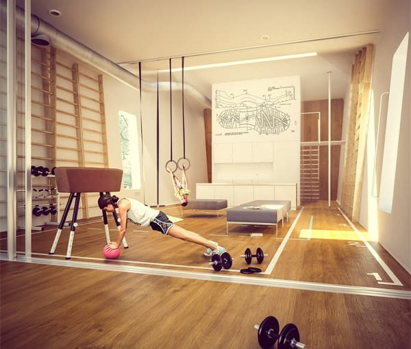 Sport Hauz. Nowoczesny dom dla kochających sport
