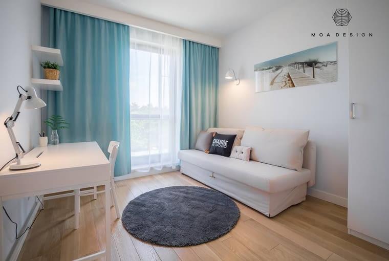 Trzeci pokój w mieszkaniu może służyć, jako dodatkowa sypialnia lub domowe biuro.