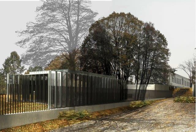 Projekt rozbudowy Sejmu, dziś już zrealizowany. Proj pracowni Bolesława Stelmacha