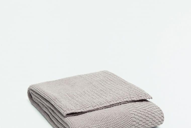 W stylu tego wnętrza: Koc, bawełna, 130 x 170 cm Zara Home, 279 zł