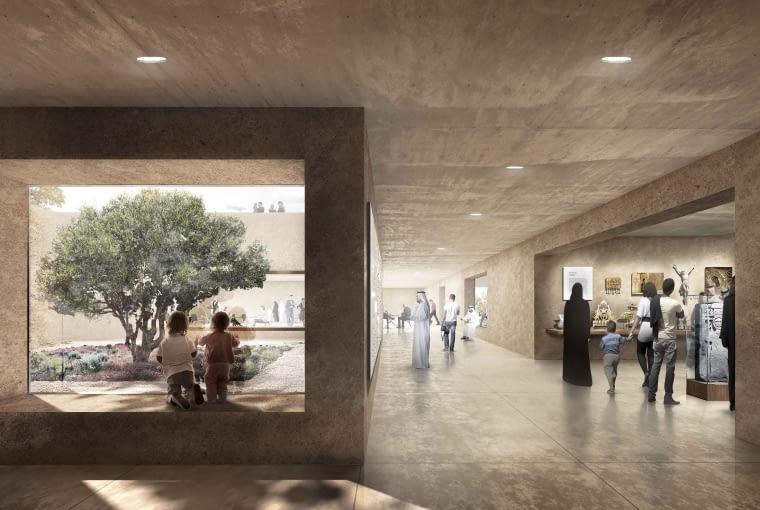 Dom Abrahama w Abu Zabi - centrum dla odwiedzających. Proj. Adjaye Associates