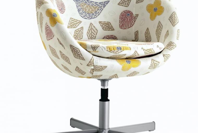 FOTEL Skruvsta, wygodne siedzisko o regulowanej wysokości, obity tkaniną, obrotowy, 66 x 68 cm, wys. 72 cm, 299,99 zł, IKEA