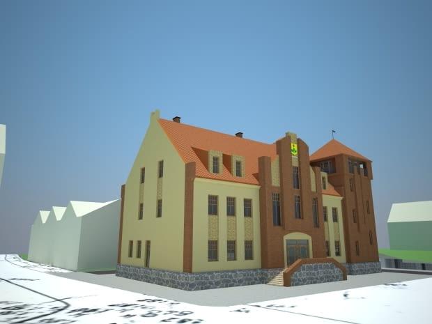 Wizualizacja nowego Ratusza w Tolkmicku