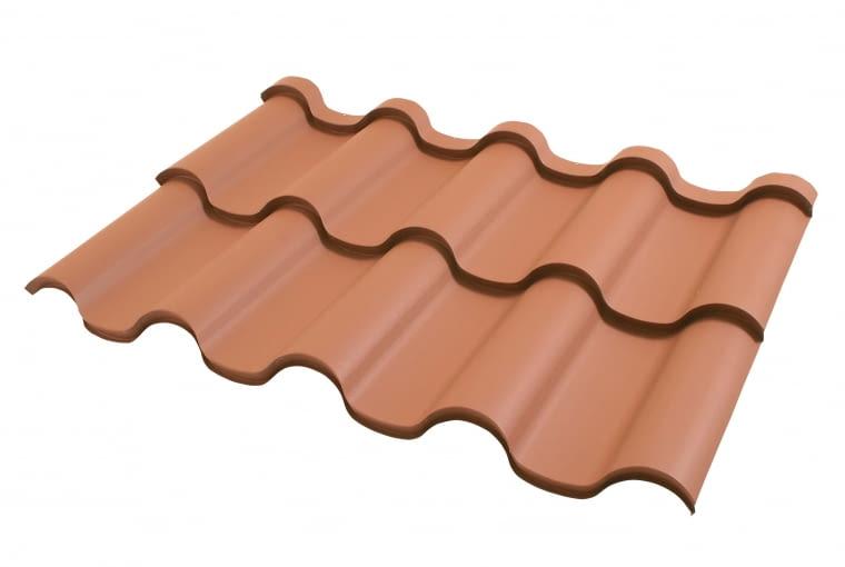Riviera/LINDAB | Rodzaj: blachodachówka | materiał: blacha stalowa z powłoką organiczną (HBP, MHBP) | wymiary: 93,2 x 112,6 cm; gr. blachy: 0,5 mm; wys. przetłoczenia: 2,7 cm | zalecany kąt nachylenia połaci 15° | kolory: m.in. czarny, grafitowy, brązowy. Cena: od 51,12 zł/m2, www.lindab.pl