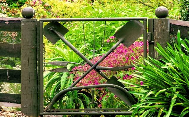 Gate made from old tools