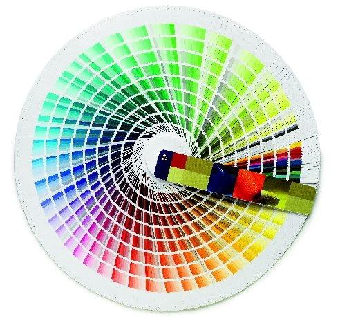 Wzornik kolorów dostępnych z mieszalnika