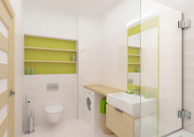 pralka wolno stojąca, pralka w łazience, sprzęt agd