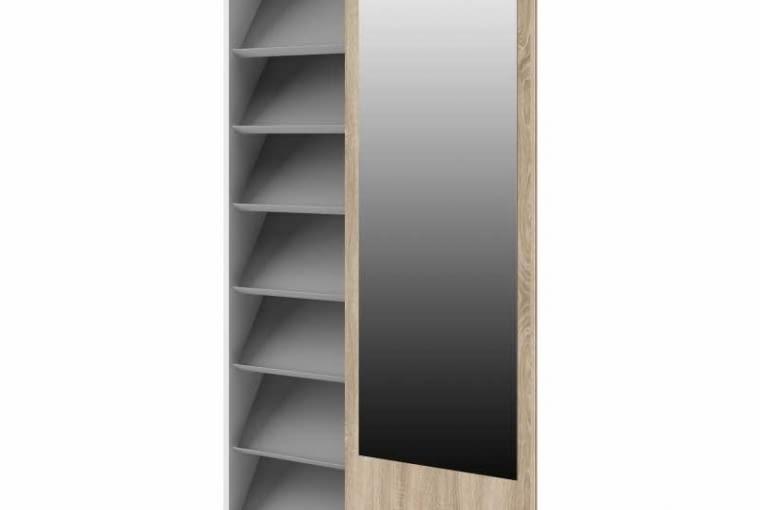 Szafa wąska z przesuwanymi drzwiami w obie strony i lustrem, kolekcja Kate, onemarket.pl